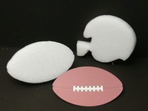 DIY Sports Football Centerpiece Accents