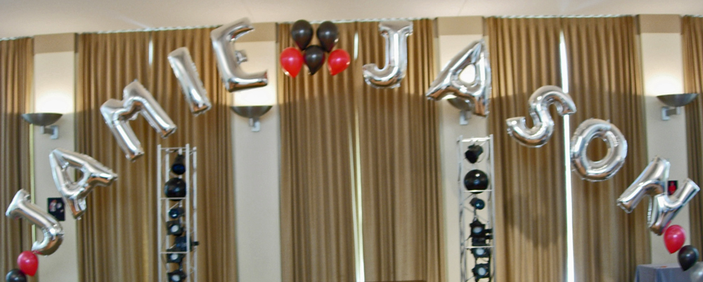 Jamie-Jason Double Name in Letters Balloon Arch