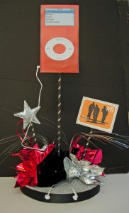Bar Mitzvah Music Theme Centerpiece with Fake Ipod
