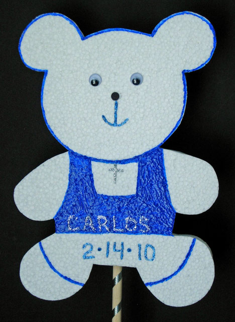 Baby Bear Baptism Custom Centerpiece Cutout