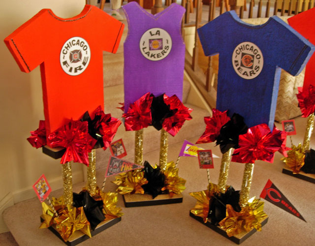 Tall Custom Sports Jersey Centerpieces
