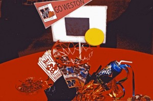 Graduation Party Basketball Theme Centerpiece