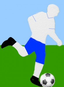 Detailed Cut Out Soccer Player