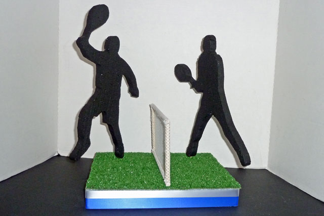 Tennis Player Cut Outs and Tennis Court Kit