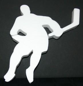 Hockey Player Foam Sports Theme Cut Out 01