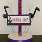 Music Centerpiece Back With Flexible Plastic Tube