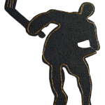 Detailed Hockey Player Foam Shaped Theme Cut Out