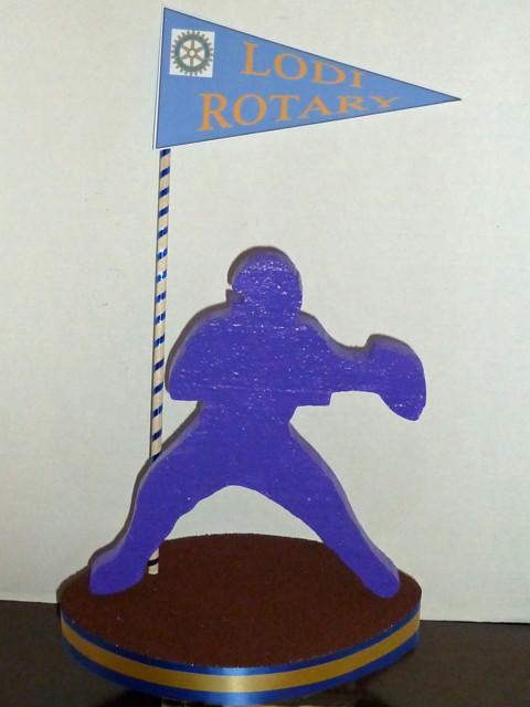 Custom Football Base Centerpiece - Blue
