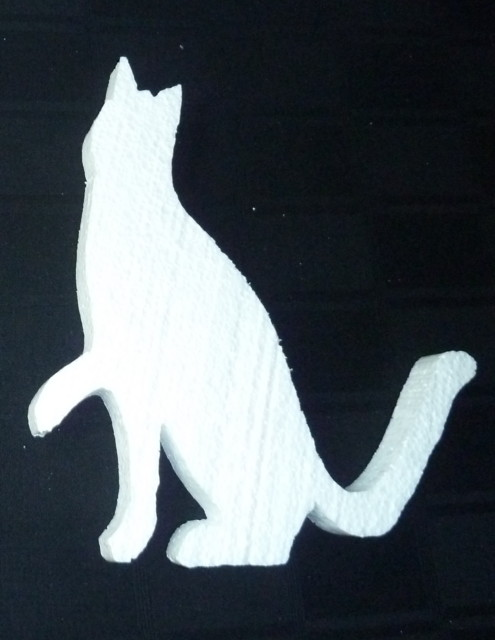 DIY Cat Shaped Cut Out
