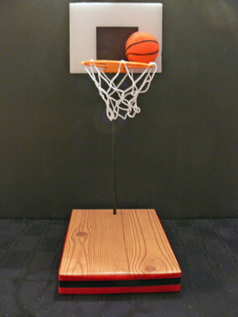 Do It Yourself Basketball Centerpiece Kit Completed