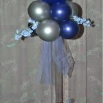 DIY Tall Balloon Centerpiece with custom cut flexible plastic tube