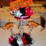 Completed Custom Candy Theme Centerpiece Party Ready