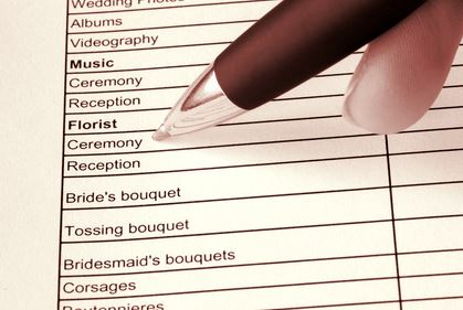Day of Event Wedding Coordinator's Checklist
