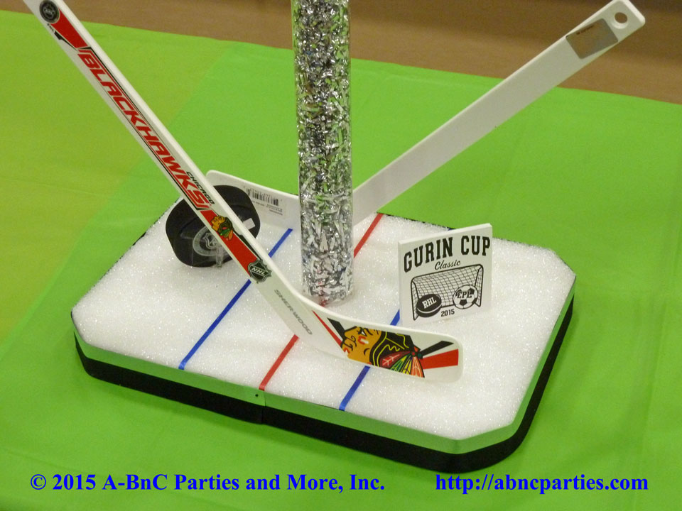 Bat Mitzvah Hockey Centerpiece Base 10