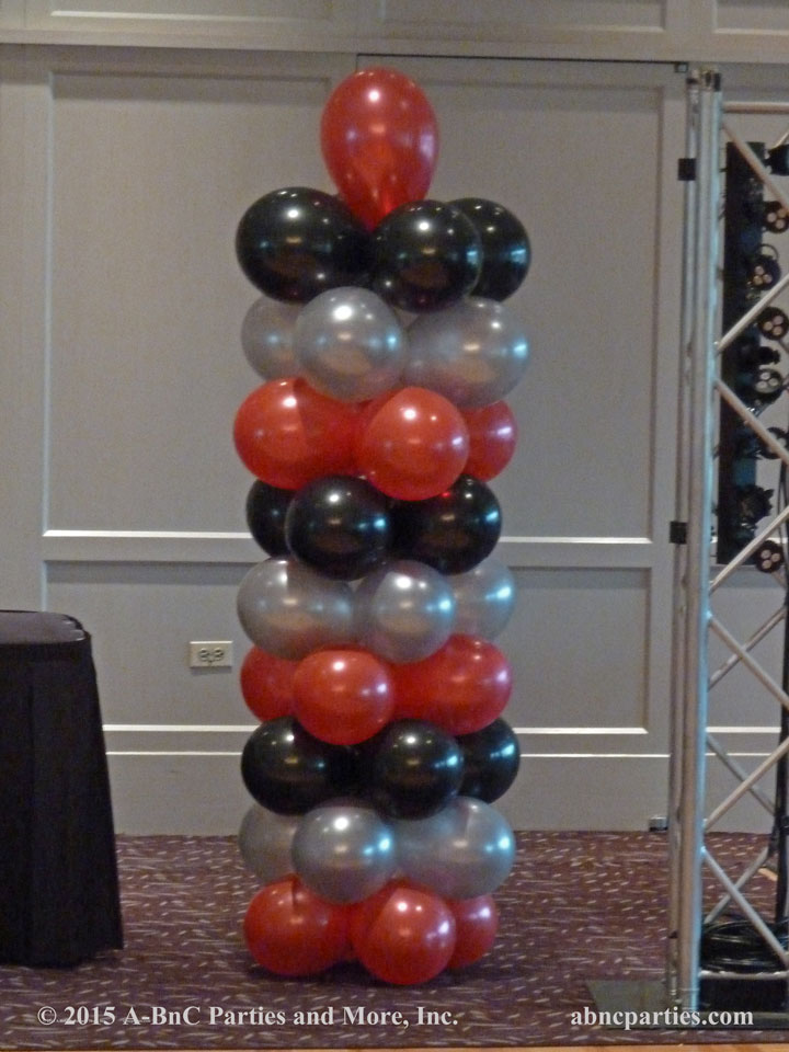 Bar Mitzvah Balloon Column Decoration 01