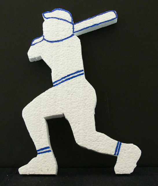 Baseball Batter Cutout Highlighted