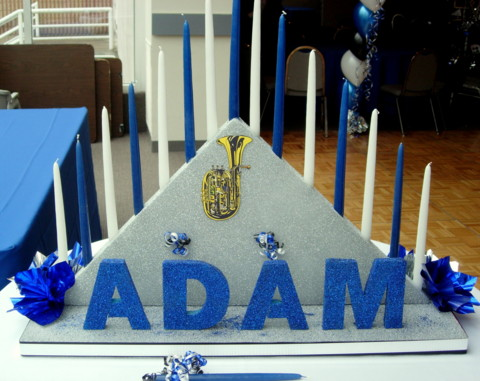 Bar Mitzvah Candle Lighting For Adam