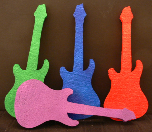 Painted Guitar Cut Outs
