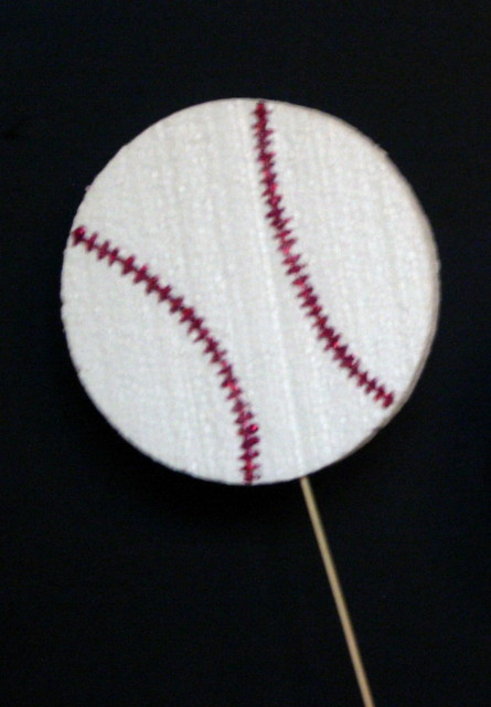 Decorated Baseball Centerpiece Cut Out