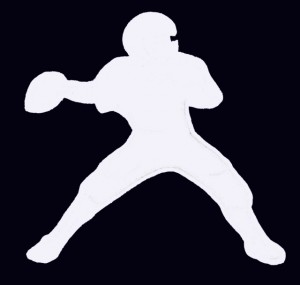 Football Cut Out - Quarterback Plain White