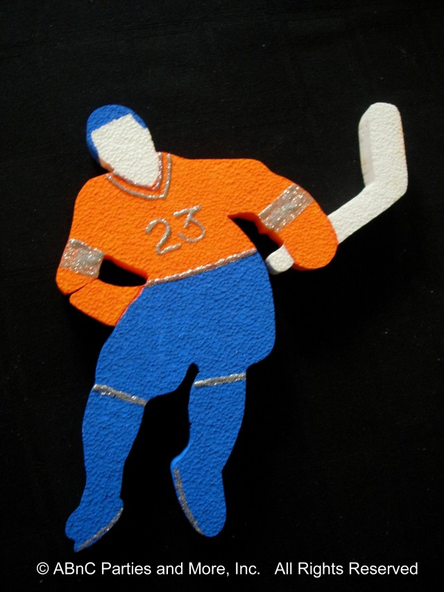 Ice Hockey Player Cut Out Custom Painted and Detailed