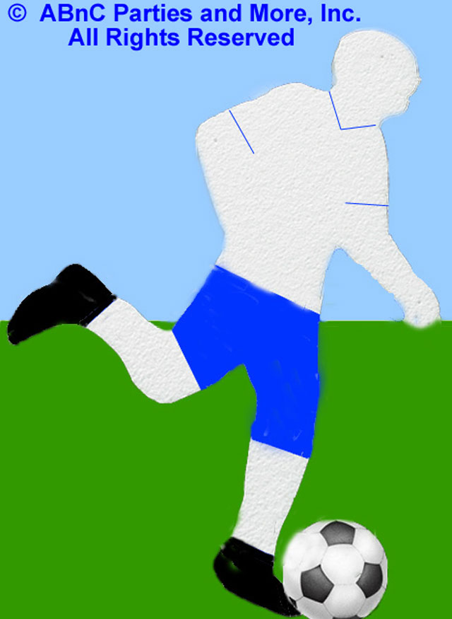 Soccer Player Sports Cut Out Detailed