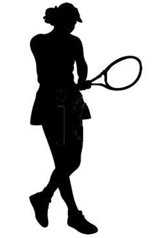 Female Tennis Player Cut Out