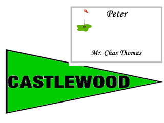 Golf Theme Place Card and Table Name