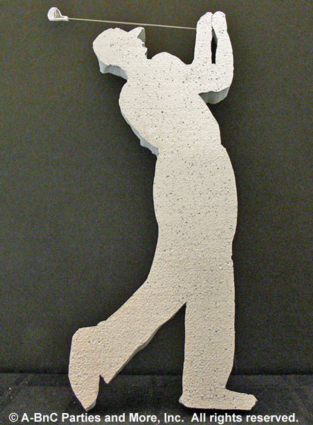 Golfer Cut Out Plain