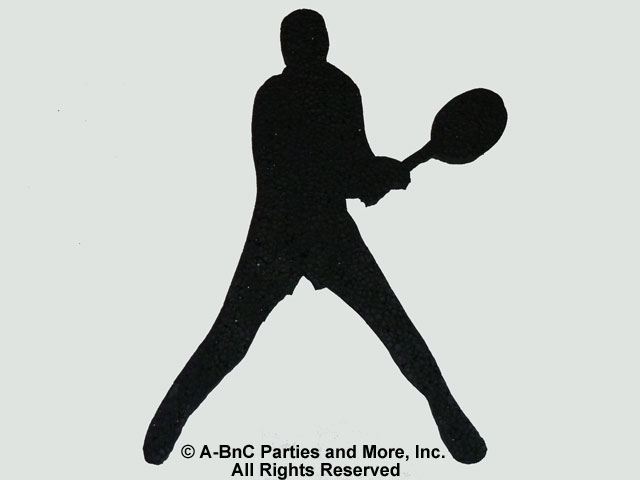 Male Tennis Player Cut Out Backhand