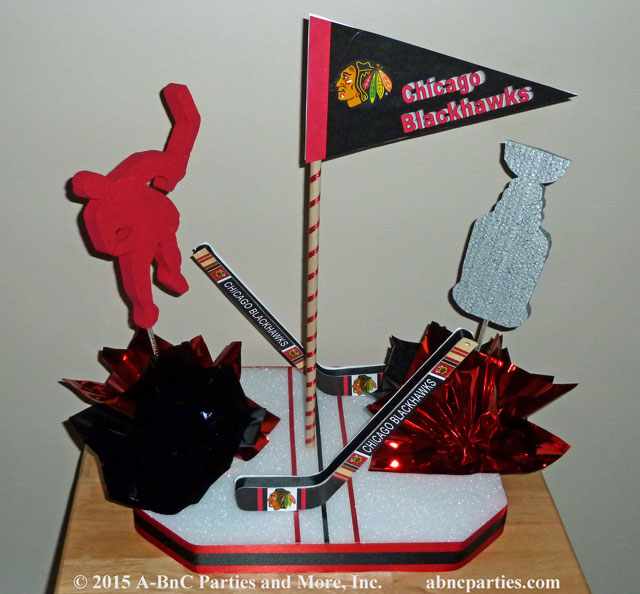 Chicago Blackhawks Hockey Centerpiece 01