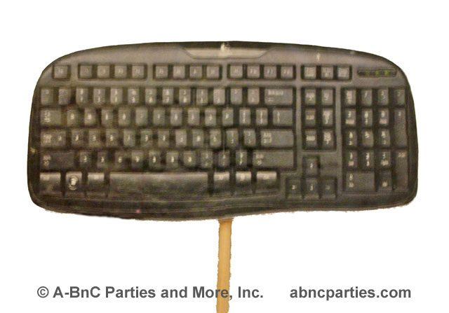 Computer Keyboard Laminated Photo Cut Out