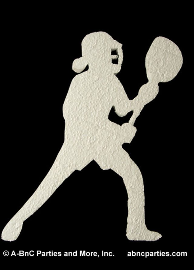 Female Lacrosse Player Cut Out