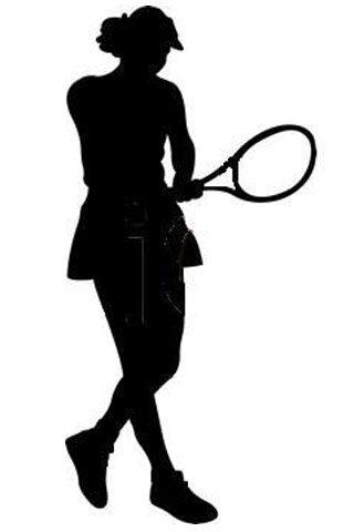 Female Tennis Player Cut Out