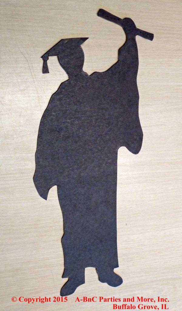 Male Graduation Centerpiece Silhouette Cut Out 01