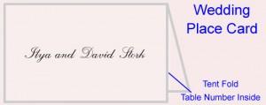 Tent Fold Custom Wedding Place Card