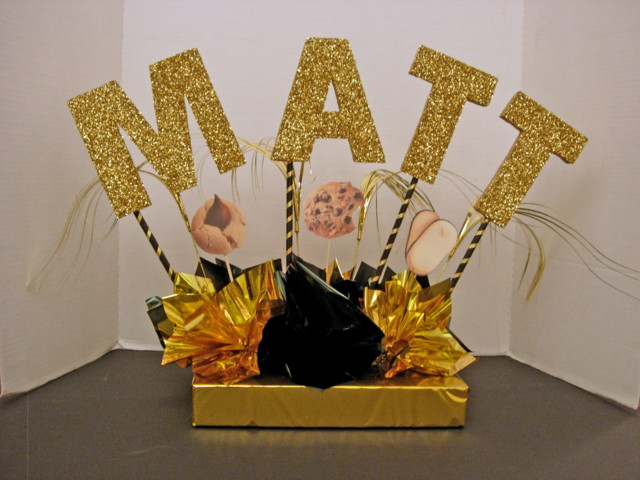 Cookie Theme Name Centerpiece for Place Card Table