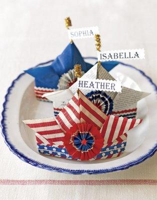 Paper Hat Place cards