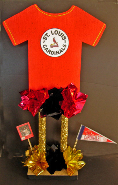 Tall Baseball Jersey Centerpiece