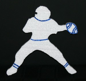Football Theme Sports Cut Out -detailed Quarterback
