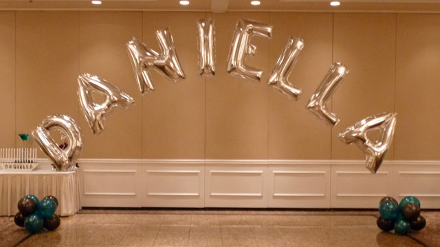 Balloon Name In Letters Final Touch