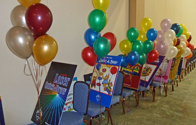 Balloons Clusters for Room Easels