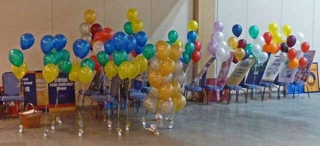 Balloon Columns, Table Centerpieces and Easel Clusters