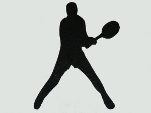 Tennis Player Cut Out 01 - Backhand
