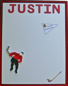 Hockey Theme Party Sign In Board