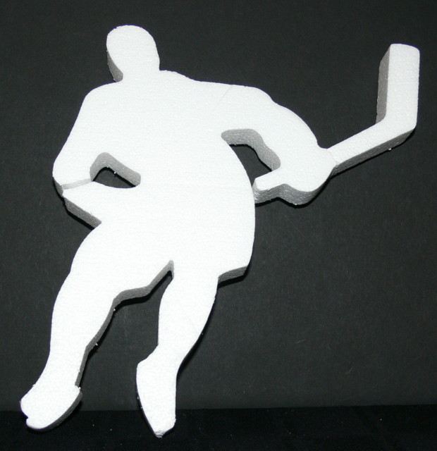Hockey Player Foam Sports Theme Cut Out 01