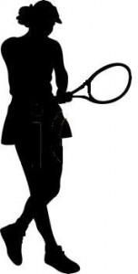 Female Tennis Player Foam Cut Out Shape