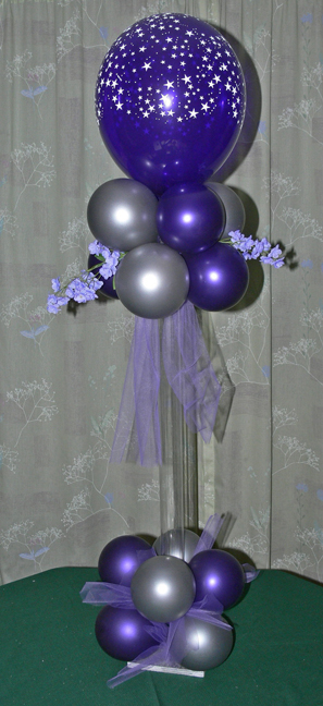 Tall Air Filled Balloon Centerpiece
