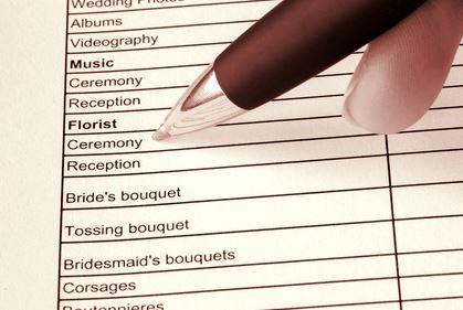 Day of Event Wedding Coordinator's Checklist