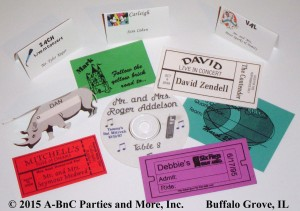 Custom Party Place Card Samples 01